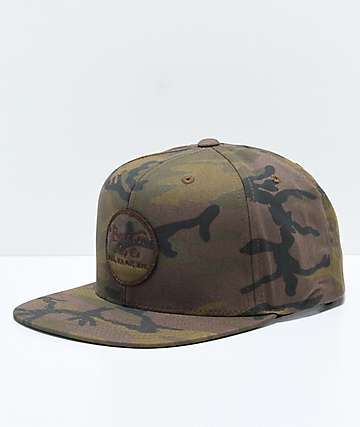 Brixton Wheeler Camo Snapback Hat