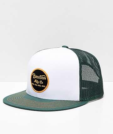 Brixton Wheeler Chive gorra snapback de malla verde