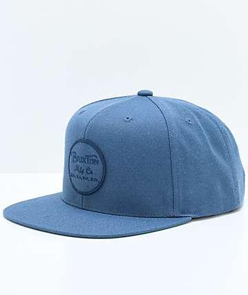 Brixton Wheeler Ocean Snapback Hat