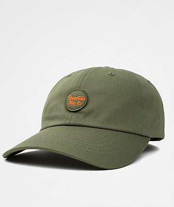 Brixton Wheeler Olive & Orange Dad Hat