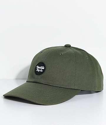 Brixton Wheeler Olive Baseball Hat