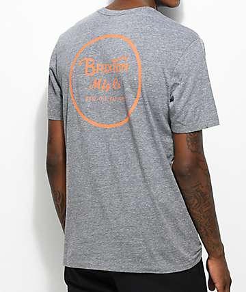 Brixton Wheeler camiseta gris y naranja