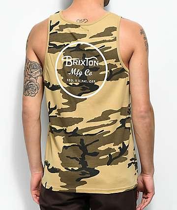 Brixton Wheeler camiseta sin mangas de camuflaje