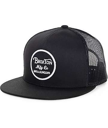Brixton Wheeler gorra negra trucker