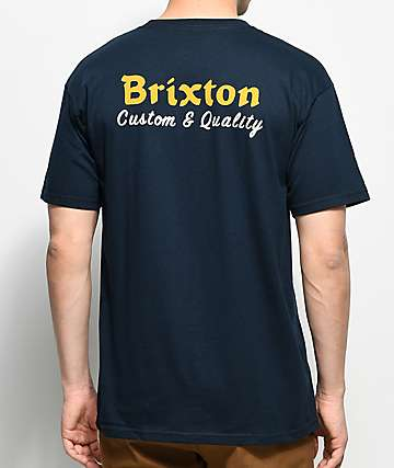 Brixton Wilkin camiseta en azul marino