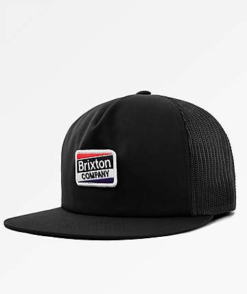 Brixton Worden Black Trucker Hat