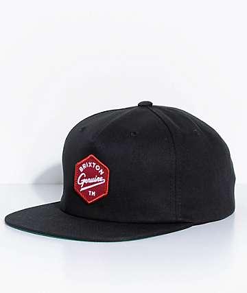 Brixton Yates Black Snapback Hat