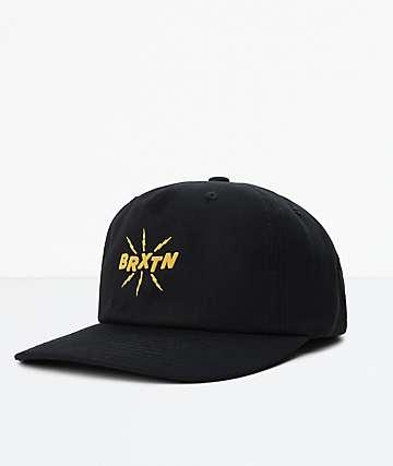 Brixton Zap MP Black Snapback Hat