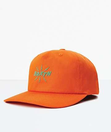Brixton Zap MP Orange Snapback Hat