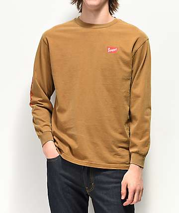 Brixton x Coors Banquet Brown Long Sleeve T-Shirt