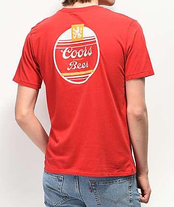 Brixton x Coors Banquet Cask Red T-Shirt