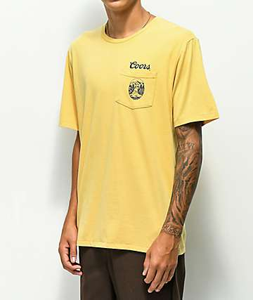 Brixton x Coors Banquet Filtered Buff Pocket T-Shirt