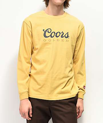 Brixton x Coors Banquet Golden II Cream Long Sleeve T-Shirt