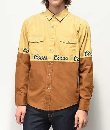 Brixton x Coors Banquet Suds Woven Long Sleeve Button Up Shirt