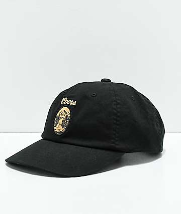Brixton x Coors Filtered Black Strapback Hat