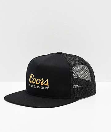 Brixton x Coors Golden Hills Black Mesh Snapback Hat