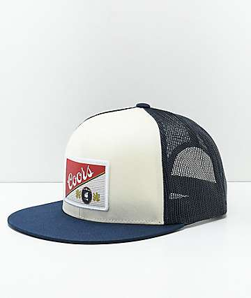 Brixton x Coors Heritage White & Navy Mesh Snapback Hat