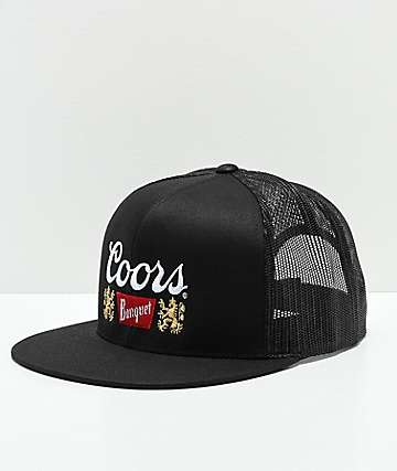 Brixton x Coors Primary II Black Trucker Hat