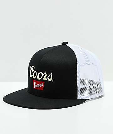 Brixton x Coors Sig II gorra de camionero negra y blanca