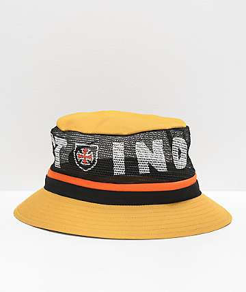 Brixton x Independent Hardy Yellow Bucket Hat