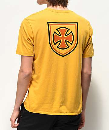 Brixton x Independent Hedge Yellow T-Shirt