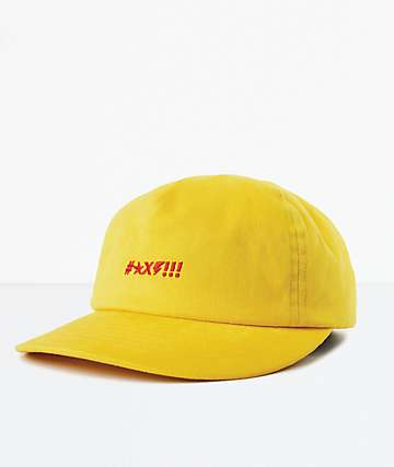 Brixton x Independent Shine LP Yellow Strapback Hat