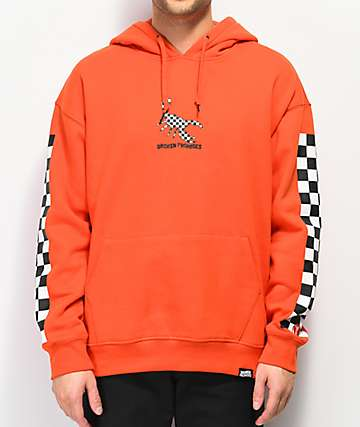 Broken Promises 2 Tone Orange Hoodie
