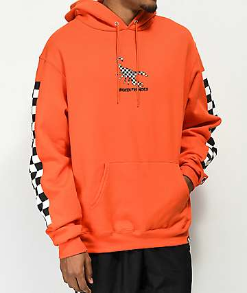 Broken Promises 2 Toned Orange Hoodie