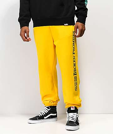 Broken Promises Bad Behavior Gold Sweatpants