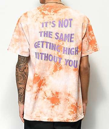 Broken Promises Best Buds White & Peach Tie Dye T-Shirt