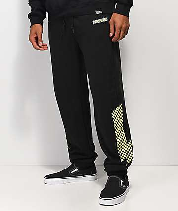 Broken Promises Bolted Black Sweatpants