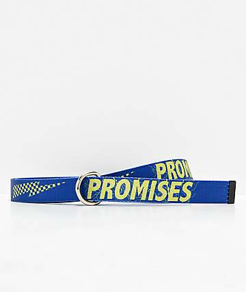 Broken Promises Bolted Blue Web Belt