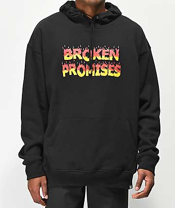 Broken Promises Burnt Out Black Hoodie