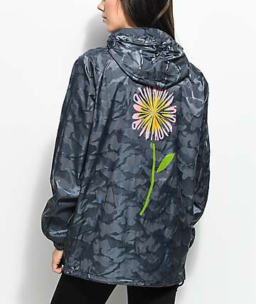 Broken Promises Camo Anorak Windbreaker Jacket