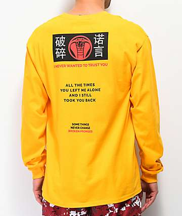 Broken Promises Cobra Yellow Long Sleeve T-Shirt