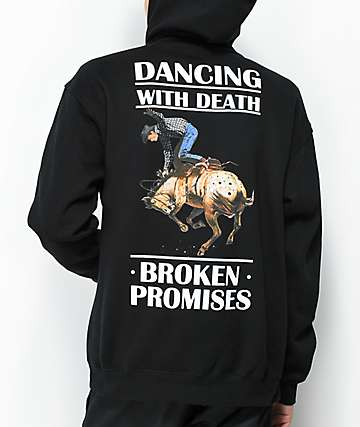 Broken Promises Dancing With Dead Black Hoodie