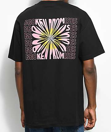 Broken Promises Dandelion Black T-Shirt