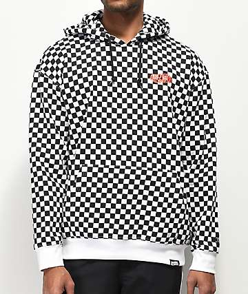 Broken Promises Dilated Checker Black & White Hoodie