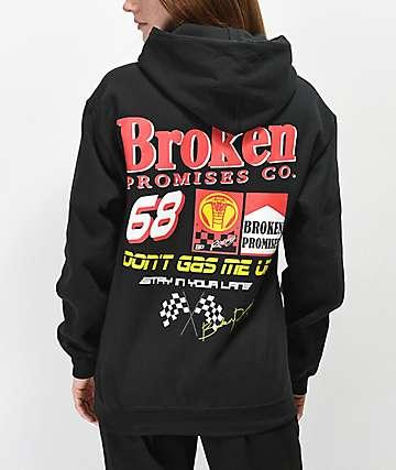 Broken Promises Don't Gas Me Up Black Hoodie