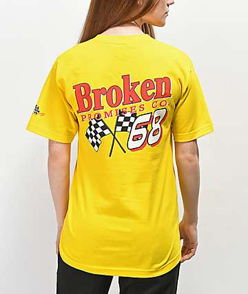 Broken Promises Don't Gas Me Up camiseta amarilla