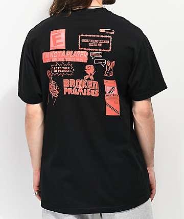 34157ad6 Broken Promises Don't Play Games Black T-Shirt