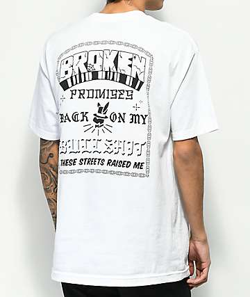 Broken Promises East LA White T-Shirt