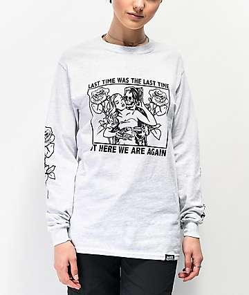 Broken Promises Enabler Grey Long Sleeve T-Shirt