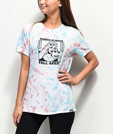 Broken Promises Fall Apart camiseta blanca con efecto tie dye