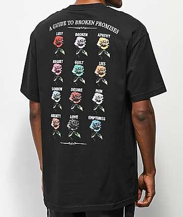 Broken Promises Feeled Guide Black T-Shirt
