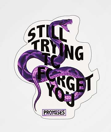 Broken Promises Forget You Snake Sticker