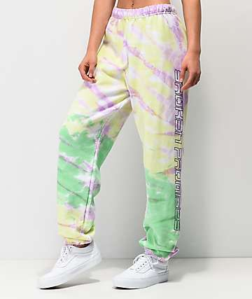 Broken Promises Green Tie Dye Sweatpants