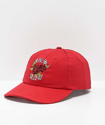 Broken Promises Import Red Strapback Hat