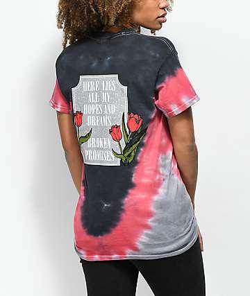Broken Promises In Memory Red & Grey Tie Dye T-Shirt