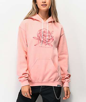 Broken Promises Killing You Softly Pink Hoodie